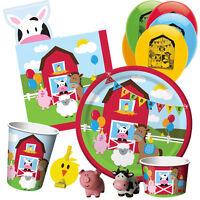 FARMHOUSE FUN - Birthday Party Range - Animals Tableware Balloons & Decorations
