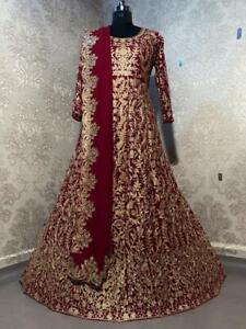Stitched Shalwar Pakistani Suit Designer Anarkali Kameez Indian Party Gown Dress