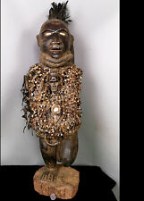 More details for old tribal large bakongo nail magical power figure    ---  congo cwh
