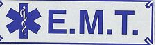 "EMT Highly Reflective Vehicle Decal with  STAR OF LIFE - size: 3"" x 10"" - E.M.T."