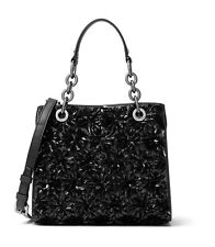 Michael Kors Flora Small Burst North/South Satchel - Black MSRP:$648