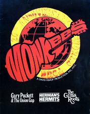 "MONKEES - 20TH ANNIVERSARY WORLD TOUR -  11"" X 14"" TOURBOOK - 1986"