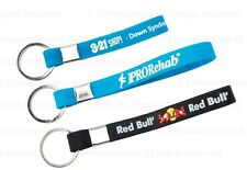 100 Debossed 1 Color-filled Silicone Key Chains with Your Company Logo, Mesage