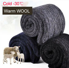 Lot Pairs Mens Warm & Soft Comfort Wool Cashmere Dress Sock Winter Thick Socks