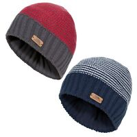 Trespass Mumford Boys Beanie Hat Knitted With Fleece For Winter