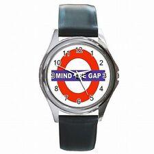 Mind the Gap London Underground Subway Sign Leather Watch New!