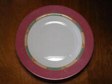 """Arcopal France POMPEI Set of 5 Large Dinner Bowls 12"""" Pink Rim"""