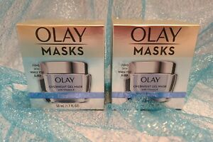 LOT 2 Olay Masks OVERNIGHT GEL MASK FIRMING Hydrating with Vitamin A 1.7oz each