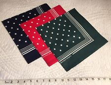 Enormous Handkerchief Men's Large Spotted Cotton Hankies, Set Of 3