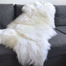 XXL Large Luxurious British White Eco Sheepskin Rug 100% Free-range 125cm