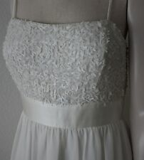 New Women's Dress by Suzi Chin for Maggy Boutique White Sequin Palette