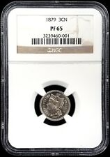 1879 Proof Three Cent piece, nickel composition certified PF 65 by NGC!