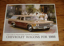 Original 1966 Chevrolet Wagon Sales Brochure 66 Chevy II Chevelle Impala