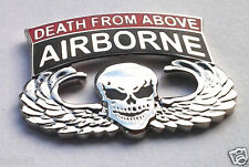 Army A/B Paratrooper Death From Above Wings Military Veteran Hat Pin P14733 Ee