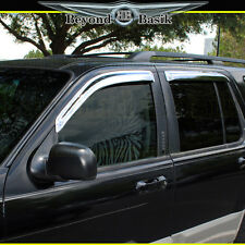 2002-2010 Ford Explorer 4PC Chrome Door Vent Visors Rain Guards