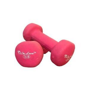 Pair Set of 3LB Yoga Neoprene Dumbbells Fitness Walking Crossfit