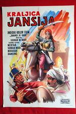 JHANSI KI RANI INDIAN HINDI MEHTAB SOHRAB MOBI 1956 MUBARAK EXYUGO MOVIE POSTER