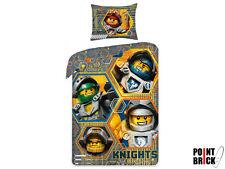 LEGO NEXO KNIGHTS Copripiumino Letto Singolo + Federa 100% Cotone