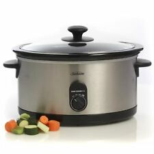 Sunbeam 5.5L Slow Cooker HP5520 Stainless Steel Electric Heater Kitchen Cooking