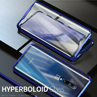 360 Full Body Luxury Magnetic Case Tempered Glass Phone Cover For One Plus 7 Pro