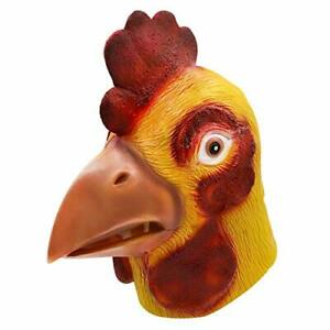 Rooster Mask,Halloween Novelty Costume Party Latex Animal head Mask Chicken