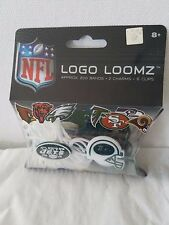 NFL LOGO LOOMZ NY JETS BRAND NEW IN PACKAGE- APP 200, 2 CHARMS 6 CLIPS