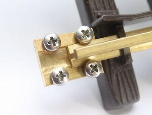 10 Schienenverbinder 19mm lang für Spur G mit VA Nirostaschraube (Kreuz) NEU