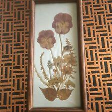 Vintage Minnesota Framed Floral Craft Wall Art.
