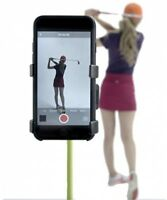 Universal Record Golf Swing Cell Phone Clip Holder & Training Aid TM Black