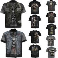 Fashion Men's Funny Skull 3D Print T-Shirt Casual Short Sleeve Tops Tee S-4XL