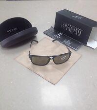 MENS SERENGETI VENEZIA 8191 Shiny Black 555NM Polarized Sunglasses.