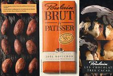 Publicité Advertising 1990 ( Double page )  Chocolat Patissier POULAIN robuchon