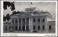 WARSCHAU Warszawa Polen AK um 1940 Belweder-Palast Gebäude alte Ansichtskarte