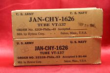 JAN-CHY-1626 Very Rare, Perfectly Preverved 100% NOS 1943 Vintage Tubes NIB  !