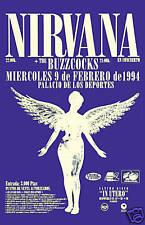 Grunge: Kurt Cobain & Nirvana with the BuzzCocks Concert Poster 1994