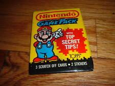 1989 NINTENDO Video GAME TRADING CARD PACK DONKEY KONG Brand New! Mario VINTAGE