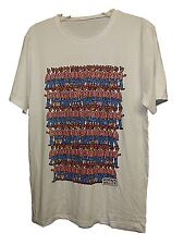 NEW MENS BOYS OFFICIAL RETRO WHERES WALLY WHITE GRAPHIC LOGO T-SHIRT TOP SZ M