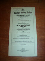 1973 Southern Railway Company Memorandum Tariff No MA 16