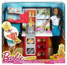 Barbie Spaghetti Chef African-American Doll & Playset ~BRAND NEW~