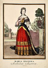 Maria Josepha von Österreich - Weigel after Luyken Original Kupferstich 1703