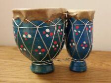 Rawhide terracotta finger drum