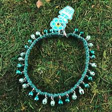 Anklet Ankle Bracelet Hand Crafted Nwt Hoti Hemp Handmade Green Pastel Bells