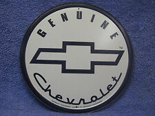 Genuine Chevrolet Logo Car Auto Round Tin Metal Sign Ford Truck