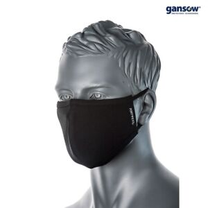 Stoffmaske antimikrobiell schwarz wiederverwendbar waschbare Behelfsmaske