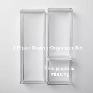 Bathroom Plastic 2 Tray Beauty Organizer Set Clear Made By Design Target NEW