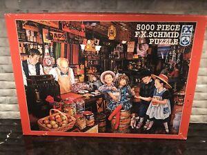 """F.X. Schmid Puzzle Rare 5000 Piece """"Lucky Marbles"""" Susan Brabeau 1998 Vintage"""