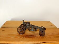 "Antique Cast Iron Toy Tractor 4 1/2"" vintage 1920 model children's boy car truck"