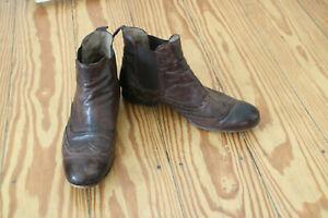 Buffalo Leder Boots Stiefelette braun Budapester Muster Gr. 42