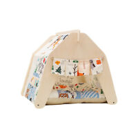 UNI Cute Washable Indoor Outdoor Kennel Dogs House Puppy Pet Teepee Tent Cushion