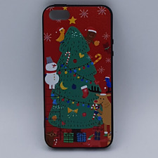 iPhone 5, 5s, SE hoesje  - kerst - kerstboom tafereel - rood